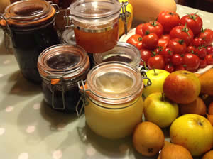 Our breakfasts feature homemade preserves and home-grown fruit and vegetables where possible